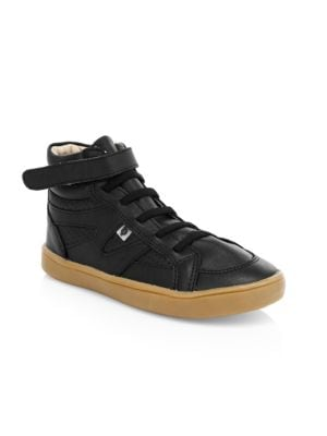 Starter Shoe High-Top Leather Sneakers