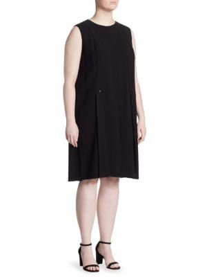 Zaida Pleated Knee-Length Dress