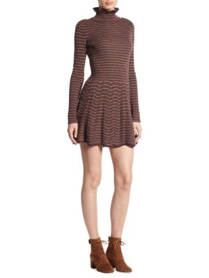 Knit Embroidered Wool Dress