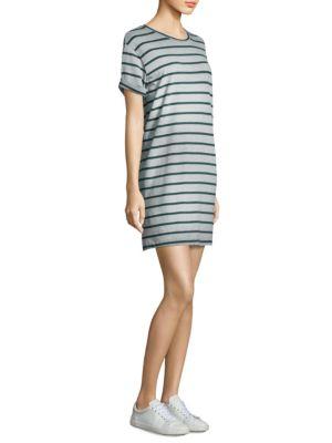 Sailor Striped Cotton Shirt Dress