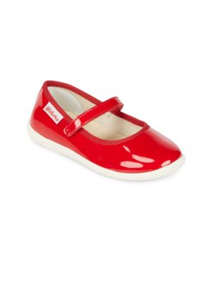 Toddler's & Kid's Round Toe Leather Flats