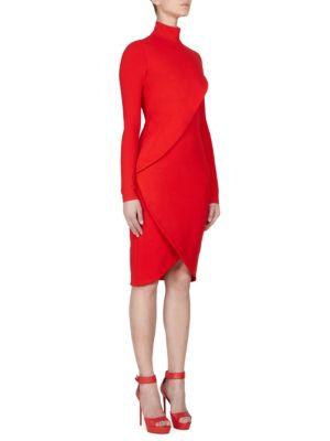 Jersey Turtleneck Dress