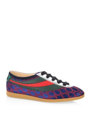 b574af46967 GUCCI BROGUE SHOES COMPETITION SNEAKERS IN GG LUREX WITH WEB BANDS AND BEE  EMBROIDERY