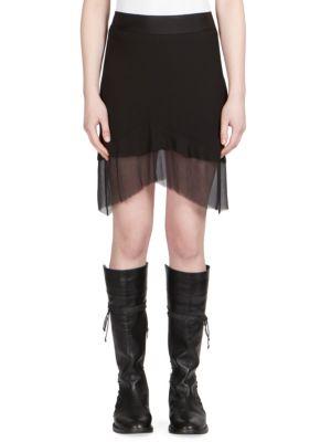 Sheer Inset Skirt