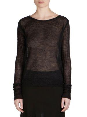 Knit Mohair Pullover by Ann Demeulemeester