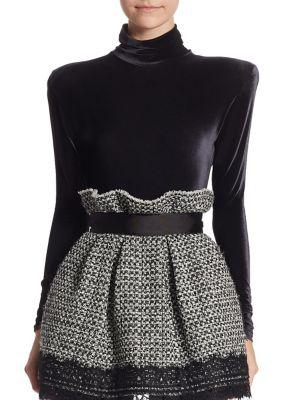 Velvet Long Sleeve Bodysuit by Faith Connexion