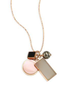 Ever Frost Semi-Precious Multi-Stone Charm Necklace