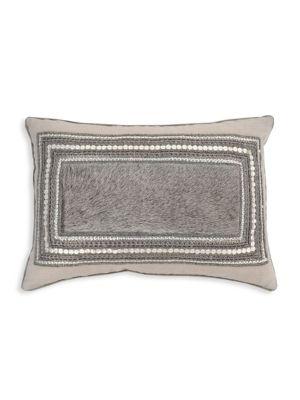 Hand Beaded Linen Pillow