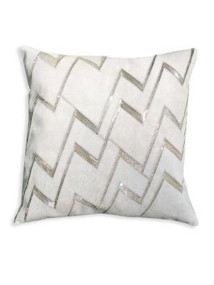 Chevron Hand Beaded Pillow