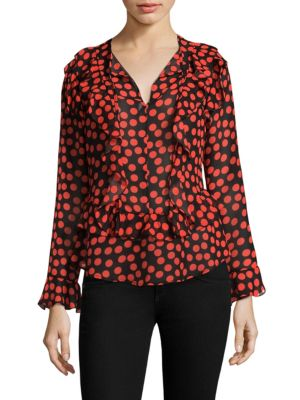 Gigner Long-Sleeve Ruffled Top by Delfi Collective