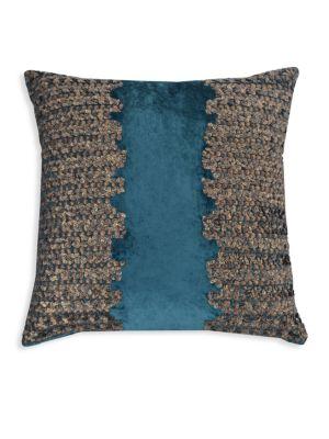 Embroidered Velvet Pillow