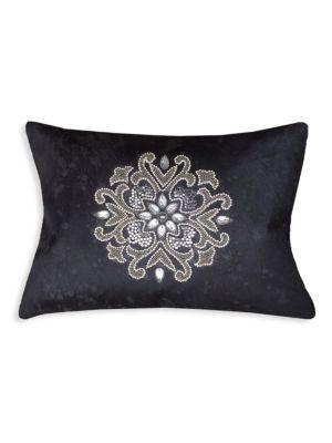 Beaded Hairon Pillow