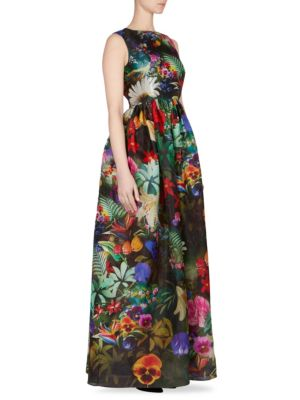 Shaw Floral Silk Dress