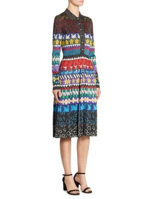 Cecile Swan-Print Dress