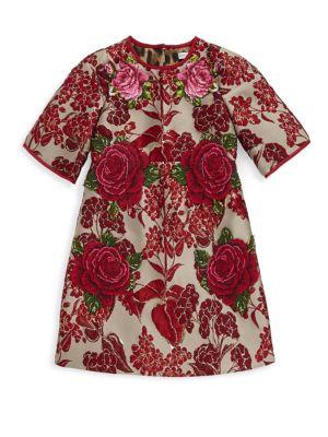 Toddler's, Little Girl's & Girl's Rose Midi Sleeve Dress