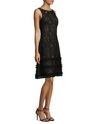 Sleeveless Lay Over Ruffle Dress