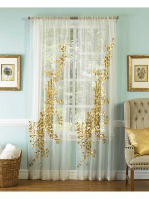 Sheer Embellished Curtain