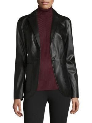 COLLECTION Leather Blazer