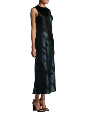 Andora Mixed-Media Gown