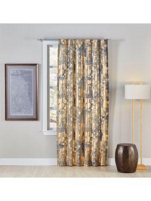 Dyed Foil Mesh Linen Curtain