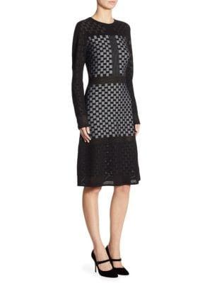 Checkerboard Illusion Dress