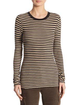 Railroad Stripe Cotton Sweater