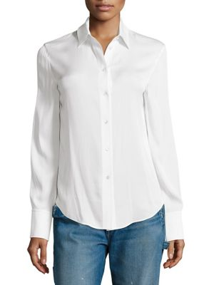 Slim Fitted Blouse by Vince