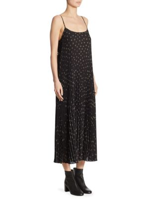 Tossed Ditsy Pleated Dress