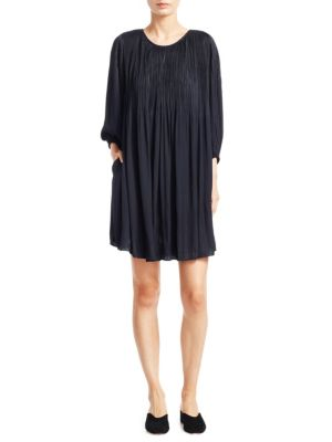 Florrie Pleat Shift Dress