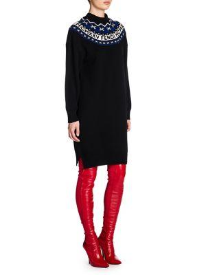 Fair Isle Wool & Cashmere Sweater Dress