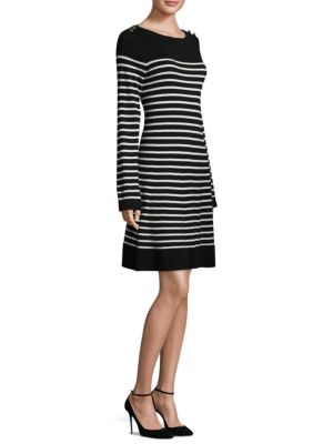 Stripe Swing Sweater Dress
