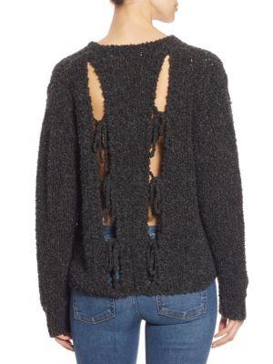 Crescent Oversized Cutout Sweater