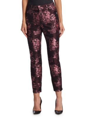 COLLECTION Brocade Crop Trousers
