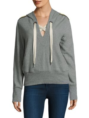 Lace-up Style Hoodie