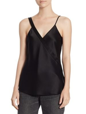 Satin Knot Top by T by Alexander Wang