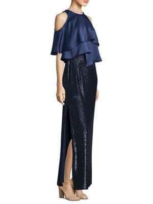 Popover Sequin Skirt Gown