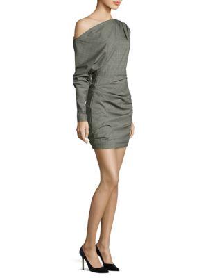 One Shoulder Wool Dress