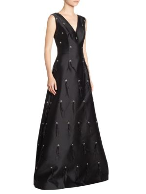 Silk Feather Gown