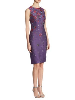 Hania Floral Jacquard Dress