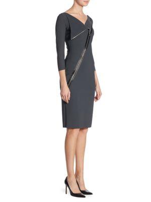 Zipper-Detail Dress