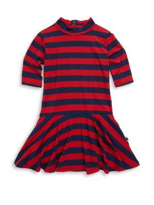 Baby's, Toddler, Little Girl's & Girl's Block Stripe Dance Dress