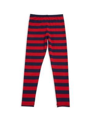 Baby's, Toddler's, Little Girl's & Girl's Block Stripe Leggings