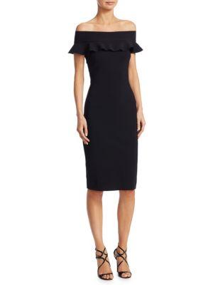 LA PETITE ROBE DI CHIARA BONI Off-the-Shoulder Bodycon Dress