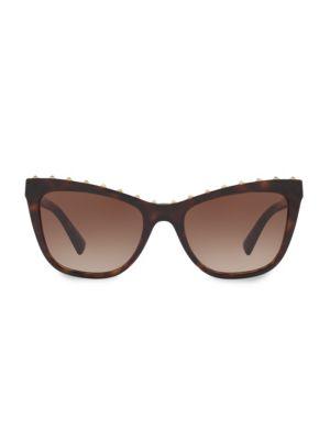 54MM Rockstud Cat Eye Sunglasses