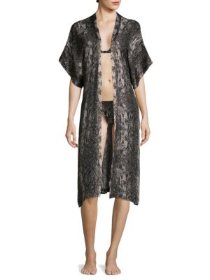 Short-Sleeve Silk Robe