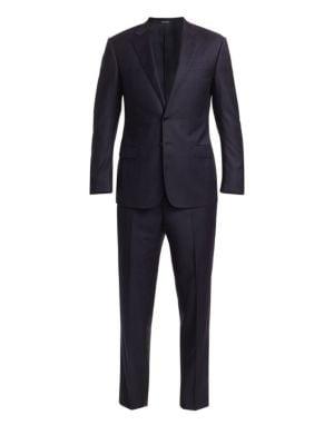 Tonal Woven Wool Suit