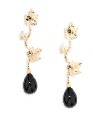 Vitis Black Agate Drop Earrings