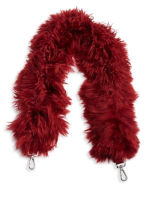 Leather Mini Strap You With Alpaca Fur