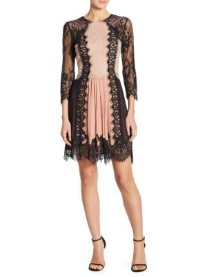 Kaylen Lace Fit-&-Flare Dress
