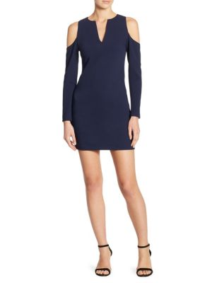 Niko Slim V-Neck Cold Shoulder Bodycon